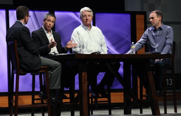 Greg Matte, pastor of FBC Houston, Texas, moderated a panel discussion on leadership with Rodney Woo (International Baptist Church, Singapore, Jack Graham (Prestonwood Baptist, Plano) and Eric Geiger (LifeWay Christian Resources).