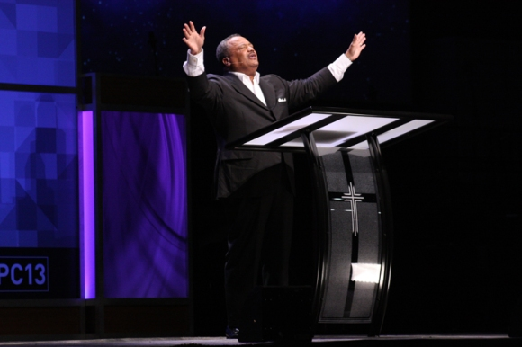 Southern Baptist Convention President Fred Luter was re-elected to a second term during the denomination's annual meeting in Houston last week. Luter is the SBC's first African American president.