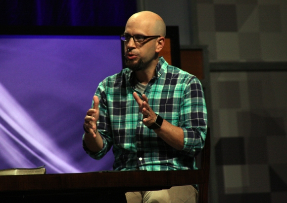 North Carolina pastor Tony Merida joined a panel discussion on preaching, where participants answered questions about preparation, sermon length, and the appropriateness of personal illustrations.