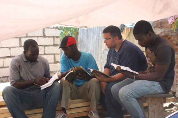 The team also had the opportunity to read the Bible and a discipleship book with our Haitian friends.