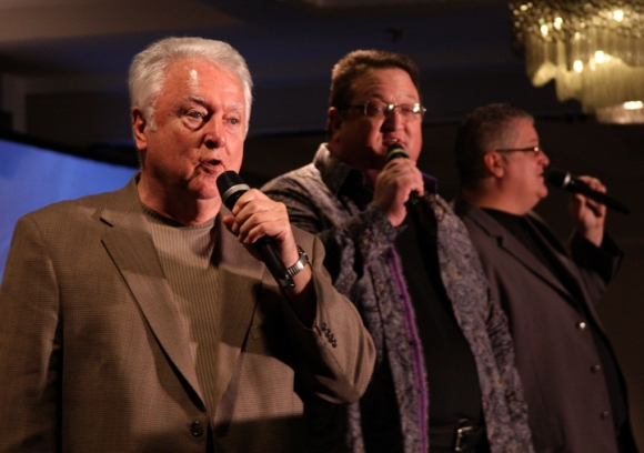 Les, Chris and Brent Snyder, or Sons of the Father, opened the Wednesday evening session with a worship concert.