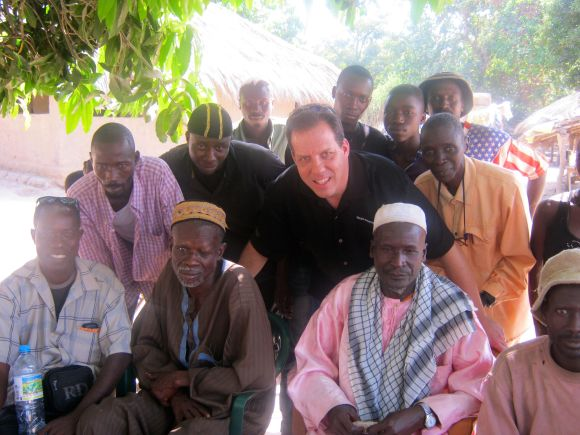 Mark Emerson, pictured here, and a team of four volunteers from Illinois spent a week in Guinea engaging people there with stories from the Bible.