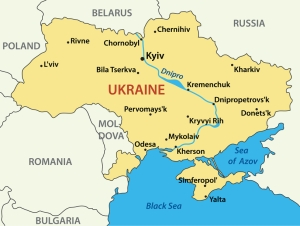 map of Ukraine - vector illustration