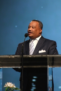"""Luter preached on revival that begins with prayer. """"If there is any hope for spiritual renewal in America, that renewal must start in our churches, and it must start with the people in our churches, Christians, believers, and the body of Christ."""""""