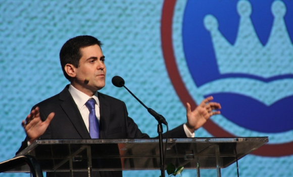 Russell Moore, president of the Ethics and Religious Liberty Commission, used his report to present an award to the Green family, the owners of Hobby Lobby. The Supreme Court currently is considering whether Hobby Lobby has to provide abortion-inducing drugs in its employee health care plans.