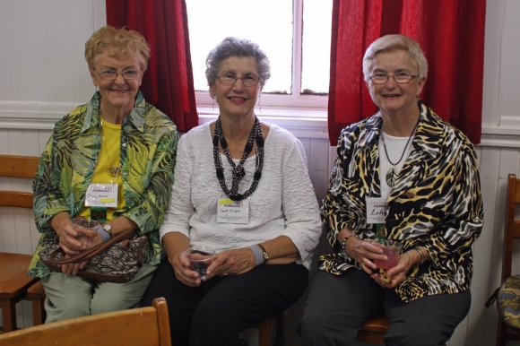 Becky Arnett, Janet Craynon and Evelyn Tully sit where Annie Armstrong could have sat, at Jesus the Redeemer Church in Baltimore.