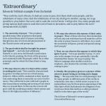 Extraordinary prayer sidebar