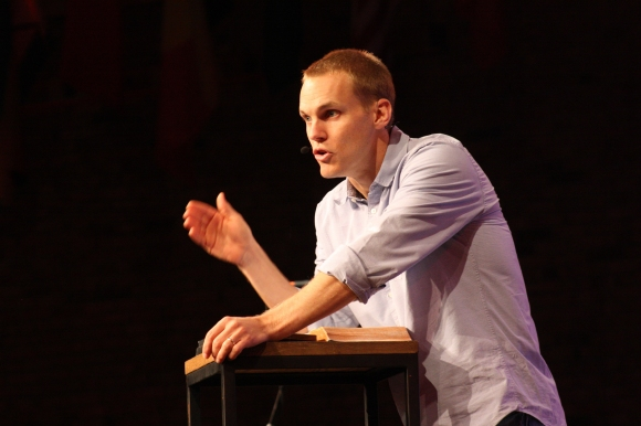 """The more our lives are devoted to spreading this gospel,"" said David Platt at an October meeting near St. Louis, ""…do we really think that our adversary and the spiritual forces of evil in the heavenly realms are going to sit back and just watch that take place?"""
