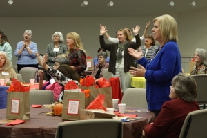 Women worship at the Ministers' Wives' Conference, held each year during the IBSA Pastors' Conference.