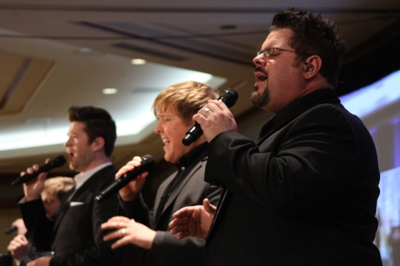 The Veritas vocal quintet is helping lead tonight's Mission Illinois: Concert of Prayer.
