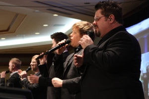 "Veritas, a group started in part by ""Truth"" founder Roger Breland, led in worship during the Concert of Prayer."