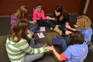 Students met with counselors after each session to talk about spiritual decisions they felt led to make.