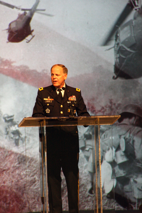 Douglas Carver, the North American Mission Board's executive director of chaplaincy, remembers veterans of the Vietnam War during a 50th anniversary tribute.