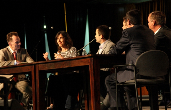 Rosaria Butterfield (second from left) was part of a panel discussion on same-sex marriage at the 2015 Southern Baptist Convention.
