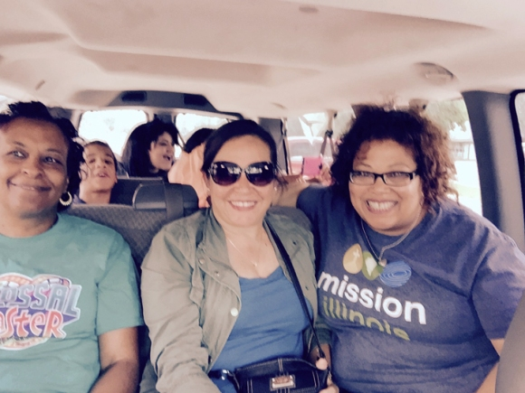 Crossover volunteers from Uptown Baptist Church, Chicago, on their way to a day of service in partnership with United Faith International Baptist Church in Columbus.