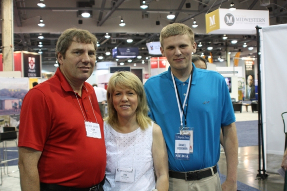 Cliff Woodman, pastor of Emmanuel Baptist in Carlinville, visited the exhibits with his wife, Lisa, and son, Daniel.