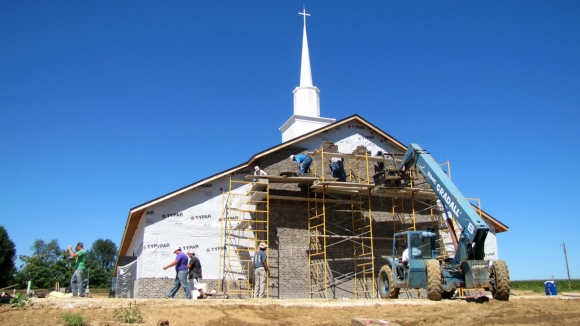 Pastor Don Hannel estimated 80% of the construction at FBC Pleasant Hill was done by volunteers.