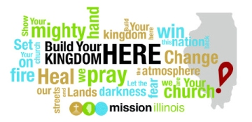 "The popular song ""Build Your Kingdom Here"" by Rend Collective inspired the 2015 Annual Meeting theme and this ""word cloud"" of phrases from the song's chorus. The artwork was designed by Abby Walker of Jacksonville."