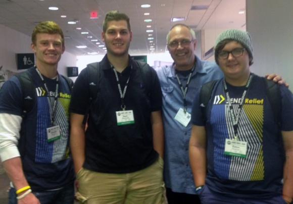 Brandon McNeely, Sean Morecraft, Phil Nelson, and Dalton Sharro