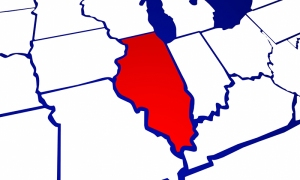 Illinois IL State United States of America 3d Animated State Map