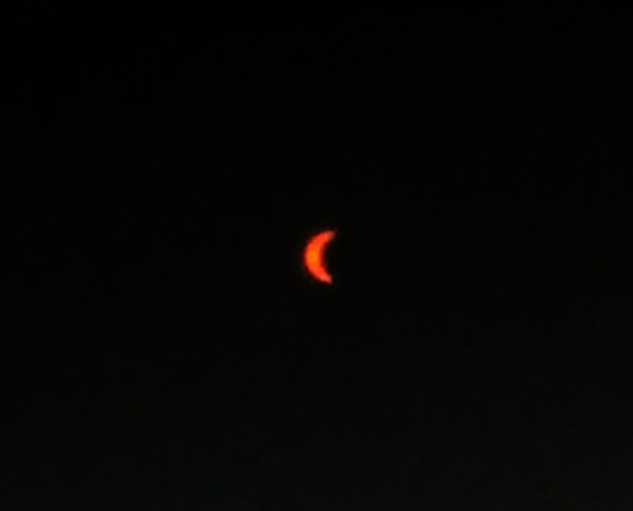 Eclipse through glasses