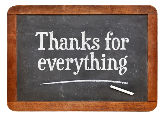 Thanks for everything on blackboard